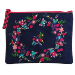 Butterfly Bloom Coin Pouch