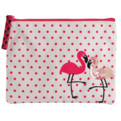 Flamingo Blush Coin Pouch