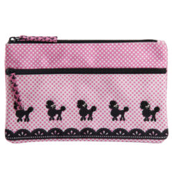 Poodle Pop Two Zipper Pouch