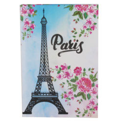 "Paris Eiffelterm Hard Case Cover Paper Notebook 8.5""x6"" Inches (A5)"