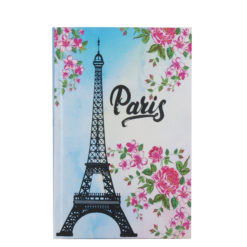 "Paris Eiffelterm Hard Case Cover Paper Notebook 7""x5"" Inches (B6)"