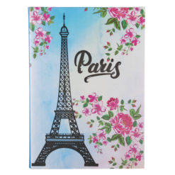 "Paris Eiffelterm Luxury Flexible Cover Paper Notebook 8.5""x6"" Inches (A5)"