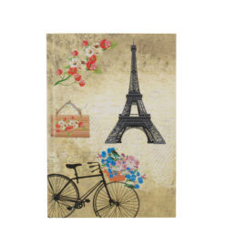 "Romantic Bicycle Hard Case Cover Paper Notebook 7""x 5"" Inches (B6)"
