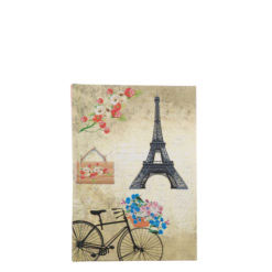"Romantic Bicycle Hard Case Cover Paper Notebook 6""x4"" Inches (A6)"