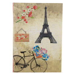 "Romantic Bicycle Luxury Flexible Cover Paper Notebook 8.5""x6"" Inches (A5)"
