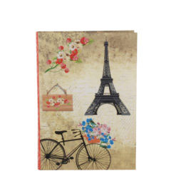 "Romantic Bicycle Luxury Flexible Cover Paper Notebook 7""x 5"" Inches (B6)"