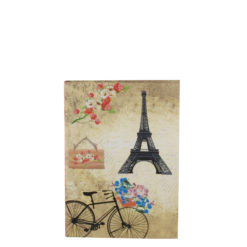 """Romantic Bicycle Luxury Flexible Cover Paper Notebook 6""""x4"""" Inches (A6)"""