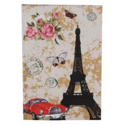 "Love Paris Hard Case Cover Paper Notebook 8.5""x 6"" Inches (A5)"