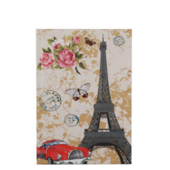 "Love Paris Hard Case Cover Paper Notebook 7""x 5"" Inches (B6)"