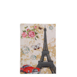 "Love Paris Hard Case Cover Paper Notebook 6""x4"" Inches (A6)"