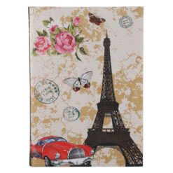 "Love Paris Luxury Flexible Cover Paper Notebook 8.5""x 6"" Inches (A5)"