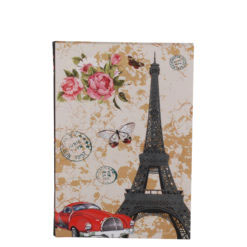 "Love Paris Luxury Flexible Cover Paper Notebook 7""x 5"" Inches (B6)"