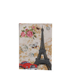 "Love Paris Luxury Flexible Cover Paper Notebook 6""x4"" Inches (A6)"