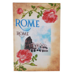 "Vintage Rome Hard Case Cover Paper Notebook 8.5""x 6"" Inches (A5)"