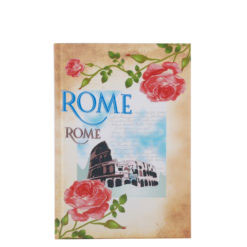 "Vintage Rome Hard Case Cover Paper Notebook 7""x 5"" Inches (B6)"