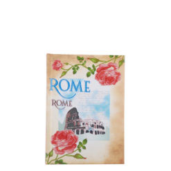 "Vintage Rome Hard Case Cover Paper Notebook 6""x4"" Inches (A6)"