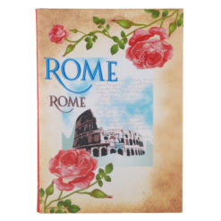 "Vintage Rome Luxury Flexible Cover Paper Notebook 8.5"" X 6"" Inches (A5)"