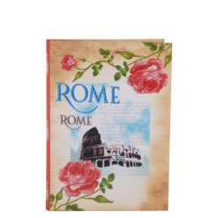"Vintage Rome Luxury Flexible Cover Paper Notebook 7""x 5"" Inches (B6)"