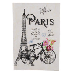 "Paris Romance Hard Case Cover Paper Notebook 8.5""x 6"" Inches (A5)"