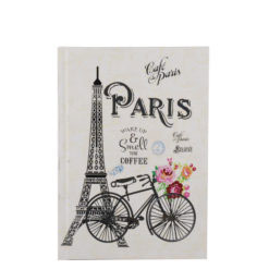 "Paris Romance Hard Case Cover Paper Notebook 7""x 5"" Inches (B6)"