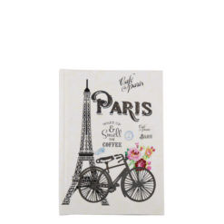 "Paris Romance Hard Case Cover Paper Notebook 6""x4"" Inches (A6)"
