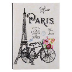 "Paris Romance Luxury Flexible Cover Paper Notebook 8.5""x 6"" Inches (A5)"