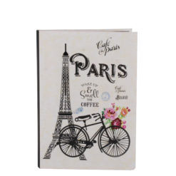 "Paris Romance Luxury Flexible Cover Paper Notebook 7""x 5"" Inches (B6)"