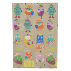 "Funky Owls Hard Case Cover Paper Notebook 8.5""x 6"" Inches (A5)"