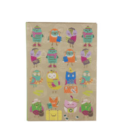 "Funky Owls Luxury Flexible Cover Paper Notebook 7""x 5"" Inches (B6)"