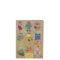 "Funky Owls Luxury Flexible Cover Paper Notebook 6""x4"" Inches (A6)"
