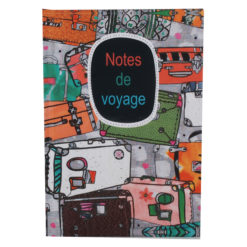 "Notes de Voyage Hard Case Cover Paper Notebook 8.5""x 6"" Inches (A5)"