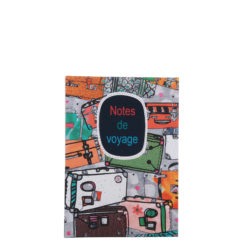 "Notes de Voyage Hard Case Cover Paper Notebook 6""x4"" Inches (A6)"