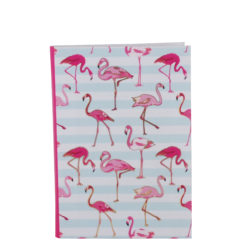 "Flamingo carnations Luxury Flexible Cover Paper Notebook 7""x 5"" Inches (B6)"