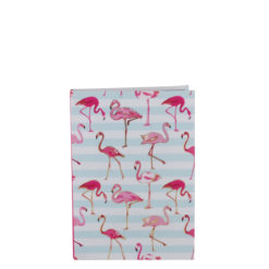 "Flamingo carnations Luxury Flexible Cover Paper Notebook 6""x4"" Inches (A6)"