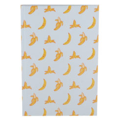 "Go Banana Hard Case Cover Paper Notebook 8.5""x 6"" Inches (A5)"