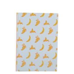 "Go Banana Hard Case Cover Paper Notebook 7""x —5"" Inches (B6)"