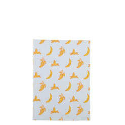 "Go Banana Hard Case Cover Paper Notebook 6""x4"" Inches (A6)"