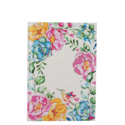 """Poppy Roses Hard Case Cover Paper Notebook 7""""x 5"""" Inches (B6)"""