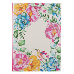 "Poppy Roses Luxury Flexible Cover Paper Notebook 8.5""x 6"" Inches (A5)"