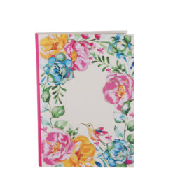 "Poppy Roses Luxury Flexible Cover Paper Notebook 7""x 5"" Inches (B6)"