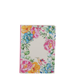 """Poppy Roses Luxury Flexible Cover Paper Notebook 6""""x4"""" Inches (A6)"""