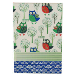 "Sleepy Owls Hard Case Cover Paper Notebook 8.5""x 6"" Inches (A5)"