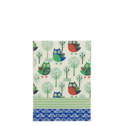 "Sleepy Owls Hard Case Cover Paper Notebook 6""x4"" Inches (A6)"