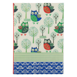 "Sleepy Owls Luxury Flexible Cover Paper Notebook 8.5""x 6"" Inches (A5)"
