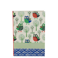 "Sleepy Owls Luxury Flexible Cover Paper Notebook 7""x 5"" Inches (B6)"