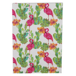 "Tropical Flemingo Hard Case Cover Paper Notebook 8.5""x6"" Inches (A5)"