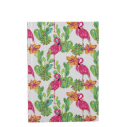 "Tropical Flemingo Hard Case Cover Paper Notebook 7""x 5"" Inches (B6)"