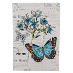 "Botanical Butterfly Hard Case Cover Paper Notebook 8.5""x6"" Inches (A5)"