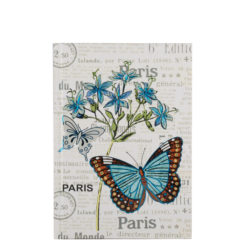 "Botanical Butterfly Hard Case Cover Paper Notebook 7""x5"" Inches (B6)"