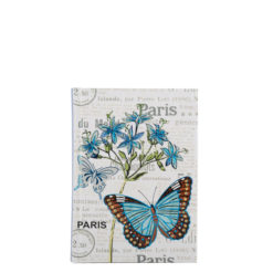 "Botanical Butterfly Hard Case Cover Paper Notebook 6""x4"" Inches (A6)"